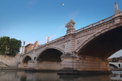 Bridge Vittorio Emanuele II in Rome, Italy Royalty Free Stock Image