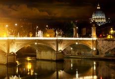 Bridge Vittorio Emanuele and Vatican Stock Photo