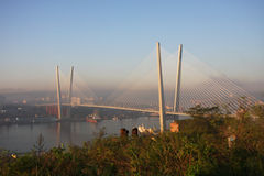 Bridge in Vladivostok Stock Image
