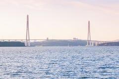 Bridge in Vladivostok city, Russia Stock Image
