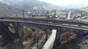The bridge on Volovechchina saw three centuries stock video