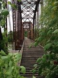 Bridge in Waco Texas Royalty Free Stock Images