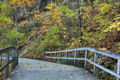 Bridge Walkway in the Fall Stock Photo