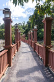 Bridge walkway Royalty Free Stock Photo