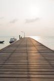 Bridge walkway at sea Stock Image