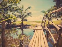 Bridge and walkway to the beach Royalty Free Stock Photo