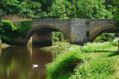 Bridge at Warkworth Stock Image