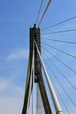 Bridge in Warsaw. Bridge on the blue sky Stock Images