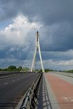 Bridge in Warsaw (capital of Poland) Stock Images