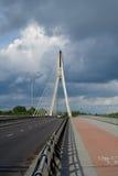 Bridge in Warsaw (capital of Poland). Swietokrzyski Bridge in Warsaw - capital of Poland Stock Images