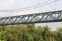 Bridge wat phra samut chedi in Samut Prakan Royalty Free Stock Image