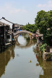 A bridge in a water town in south China royalty free stock photography