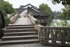 Bridge in water town Wuzhen Stock Photography