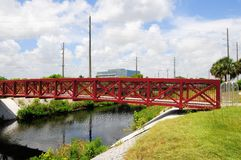 Bridge & watercourse, FL Stock Image