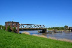Bridge, Waterway, River, Sky stock images