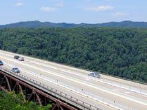 Bridge. West Virginia mountain bridge through woods royalty free stock images