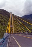 Bridge. Where the mountains natural barrier Bridge Stock Images