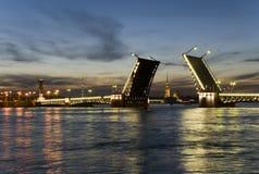 Bridge - White night Royalty Free Stock Images