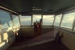 Bridge wing deck repeater Pelorus Stock Photo