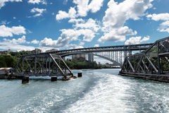 Bridge swinging open Stock Images