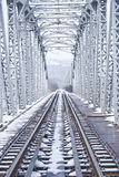Bridge in winter Stock Images