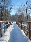 Bridge in winter Royalty Free Stock Photos