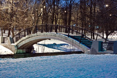 Bridge. The bridge in winter park Stock Photos