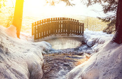 Bridge in winter Stock Photography