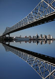Bridge With New Orleans Skyline Royalty Free Stock Photos