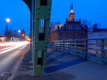 Bridge Wloclawek. Urban traffic on the bridge in Wloclawek Royalty Free Stock Photography