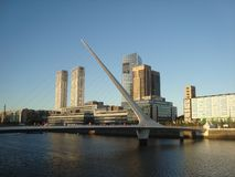 Bridge of the woman, Puerto Madero, Buenos Aires Argentine stock photography