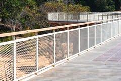 Bridge wood with Iron Stock Photography