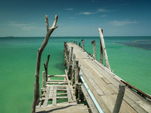 Bridge wood. At island from thailand Stock Photos