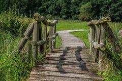 Bridge, Wood, Meadow, Wooden Bridge Royalty Free Stock Photos