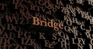 Bridge - Wooden 3D rendered letters/message Stock Images