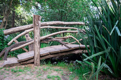 Bridge. Wooden bridge at the forest Royalty Free Stock Image
