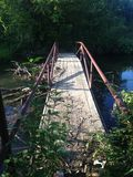 Bridge in the woods. This Bridge is in Weatherford Texas in a wooded area Royalty Free Stock Photography