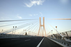 Bridge in wroclaw. Poland. Photo on blue sky Stock Photos
