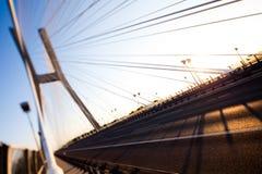 Bridge in Wroclaw, saturated landmark view Stock Photo
