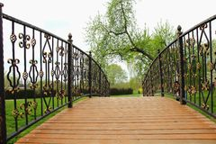Bridge with wrought iron Stock Image