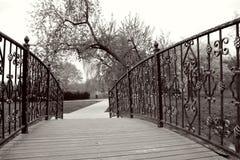 Bridge with wrought iron Stock Photos