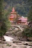 The Bridge in Yaremche. Bridge over the river Prut in Yaremche Stock Photos