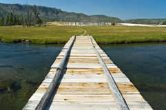 Bridge in Yellowstone National Park Stock Image