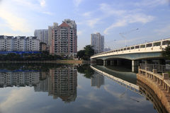 Bridge of the yuandang lake Stock Photography