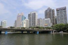 Bridge of the yuandang lake Royalty Free Stock Photography