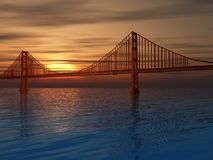 bridge złota brama royalty ilustracja