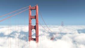 bridge złota brama ilustracja wektor