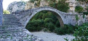 Bridge in Zagoria. An arched stone bridge, near Kipi, Zagoria, Epirus, Greece Stock Photography