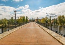A bridge in Zamora above Douro river Royalty Free Stock Photos
