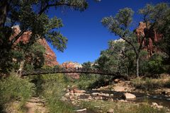 Bridge in Zion NP Stock Images